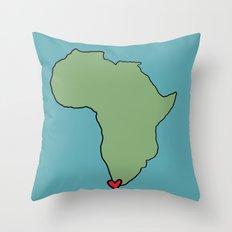 Ali Hearts Cape Town Throw Pillow