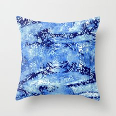 Mandala Meridia Blues Throw Pillow
