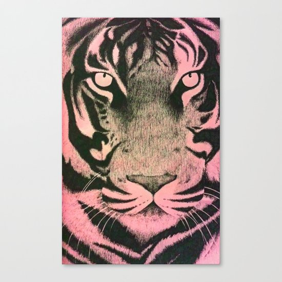 Be a Tiger (Pink) Canvas Print