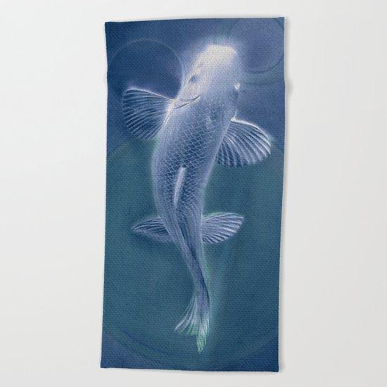 知識に歩く (Walk to Knowledge) blue Beach Towel