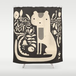 FLAMBOYANT WHISKERS Shower Curtain