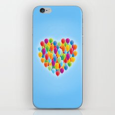 Balloon Love: Heart iPhone & iPod Skin