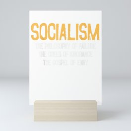 Anti-socialism Failure Envy T-shirt Winston Churchill Quote Mini Art Print