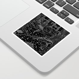 Nocturnal Animals of the Forest Sticker