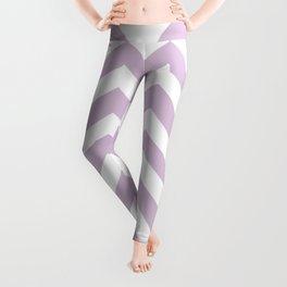 Thistle - violet color - Zigzag Chevron Pattern Leggings