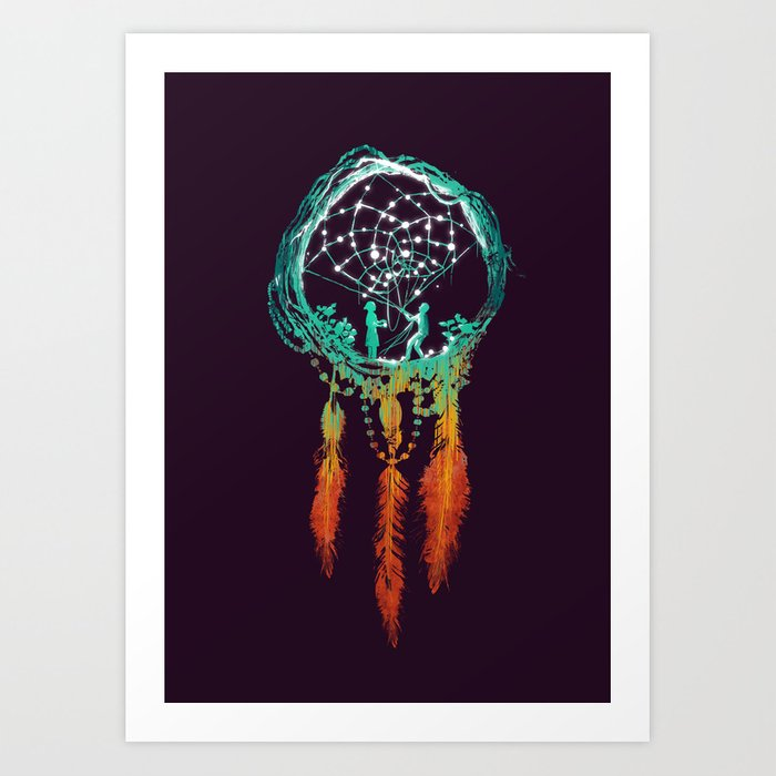 Dream Catcher (the rustic magic) Art Print