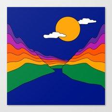 Rainbow Ravine Canvas Print