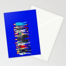 Blue Bowie Group Fashion Outfits Stationery Cards