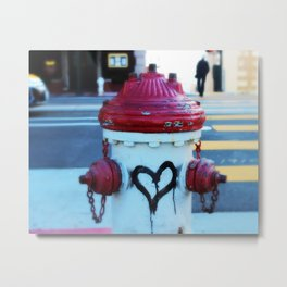 Love Fire Hydrant Metal Print