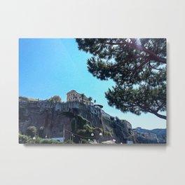Seacoast of Sorrento in summer Metal Print