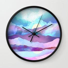 Opal Mountains Wall Clock