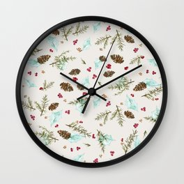 Winter walk Wall Clock