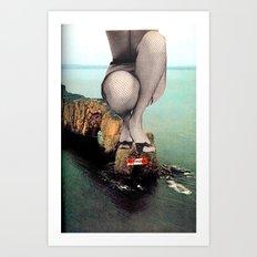 Sinking in Glamour Art Print