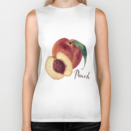 Watercolor sweet peaches Biker Tank