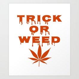 Halloween Cannabis Weed Art Print