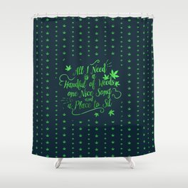 Weed-poetry Shower Curtain