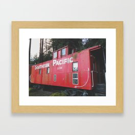 Southern Pacific Caboose Framed Art Print