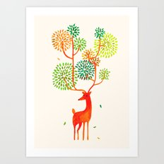 For the tree is the forest Art Print