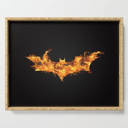 Super Hero on Fire Serving Tray