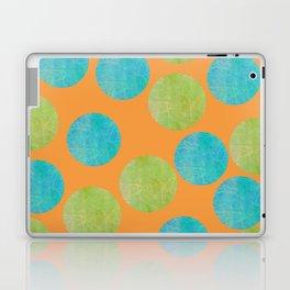 Batik Dots Lime and Teal Circle Pattern Laptop & iPad Skin