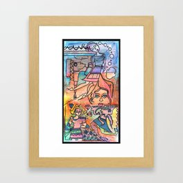 Thought waves, a telescope and a bunch of diamonds Framed Art Print