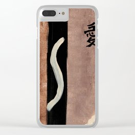 the only real valuable thing is intuition painting Clear iPhone Case