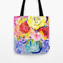 My Best Friend's Flowers Tote Bag