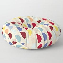 Semi circles multicolor geometric interior design Floor Pillow
