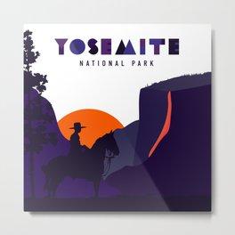 Yosemite - Buffalo Soliders at Horsetail Falls Metal Print
