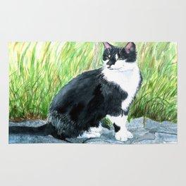 Louie the Tuxedo Cat Rug