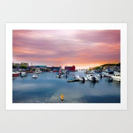 Landscape of Motif #1 (Rockport, Ma) Art Print