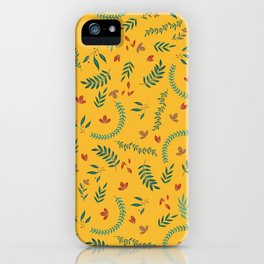 Leves in Yellow Ochre iPhone Case