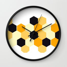 Hexagons,honeycomb ,geometric shapes decor Wall Clock