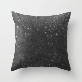 Black sparkles Throw Pillow