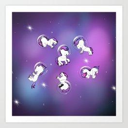 Space Unicorns Art Print