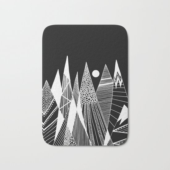 Patterns in the mountains Bath Mat