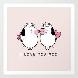 I Love You Moo Kunstdrucke