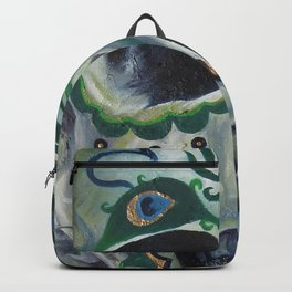 Peacock Skull Backpack