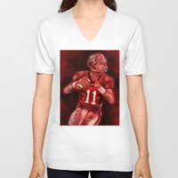 murray V-neck T-shirts featuring Aaron Murray of UGA Bulldogs Football by Wesley S Abney