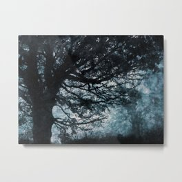 Textured Trees Metal Print