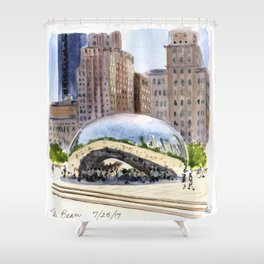 Cloud Gate - Chicago Shower Curtain
