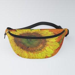 Sunflower Leaf Impression Fanny Pack
