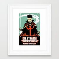 doctor Framed Art Prints featuring Doctor by Shop 5