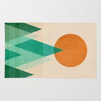 mountains Area & Throw Rugs featuring No mountains high enough by Picomodi