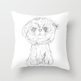 Puppy dog Throw Pillow