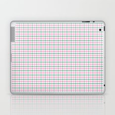 Gingham pink and forest green Laptop & iPad Skin