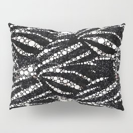 Black&Silver Abstract Bling Pattern  Pillow Sham