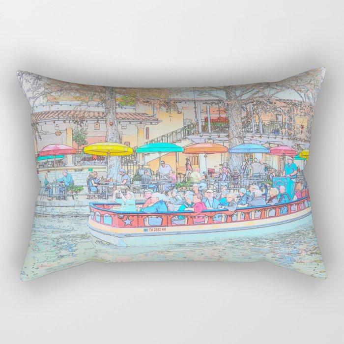 Ride Down The River - San Antonio, Texas Rectangular Pillow