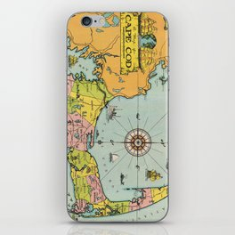 Vintage Map of Cape Cod iPhone Skin