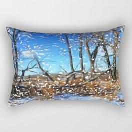 First Snow Fall in Fish Creek 03 Rectangular Pillow